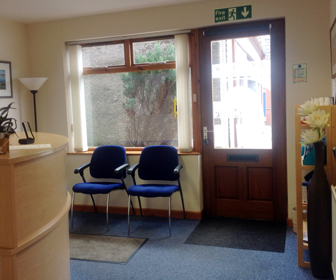 The Garioch Clinic Reception
