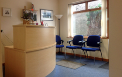 The Garioch Clinic, Inverurie, reception